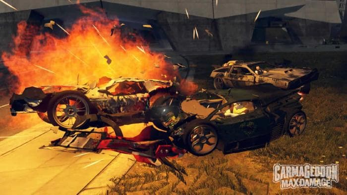 Carmageddon: Max Damaпу - burning car