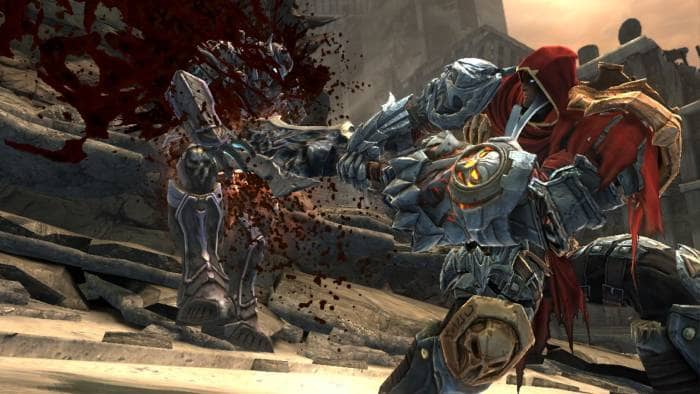 Darksiders - fighting with blood