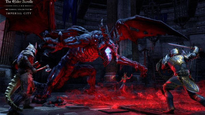 The Elder Scrolls Online: Imperial City - fighting with dragon