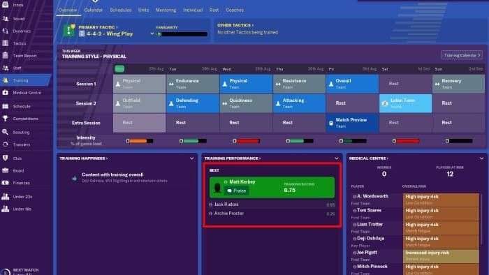 Football Manager 2019 - screen view