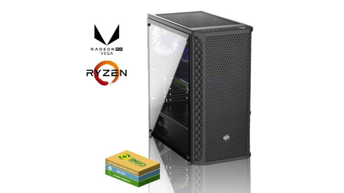 Gaming PC with AMD Radeon RX 570