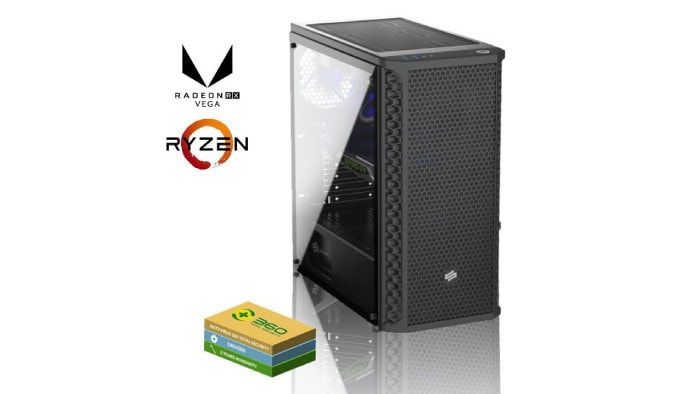 Gaming PC with Radeon RX 580 and Ryzen 7