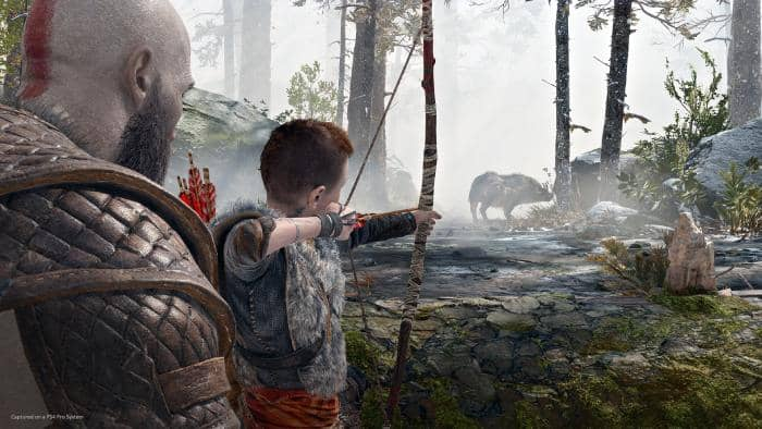 God of War - hunting for wild boar