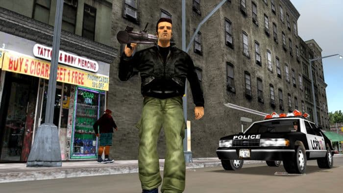 Grand Theft Auto III - protagonist and police