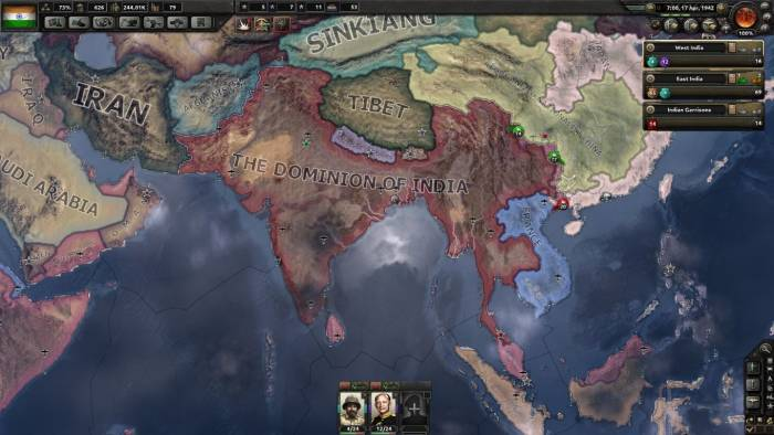 Hearts of Iron IV game screenshot