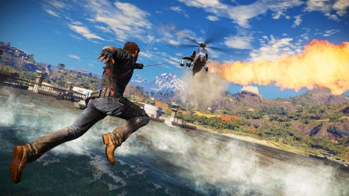 Just Cause 3 - fly to airplane