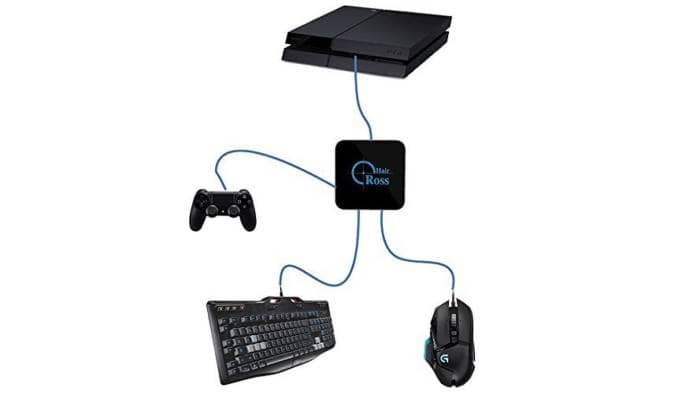 Reasnow CrossHair Keyboard Mouse Adapter for PS4