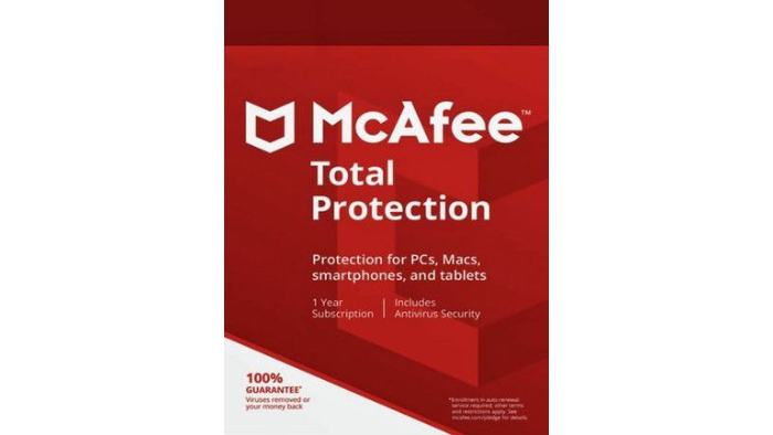 McAfee Total Protection 1 Device 1 Year Multidevice