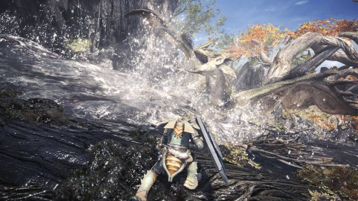 Monster Hunter: World - water fighting