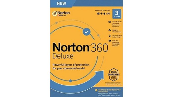 Norton 360 Deluxe + 25 GB Cloud Storage (3 Devices, 1 Year)