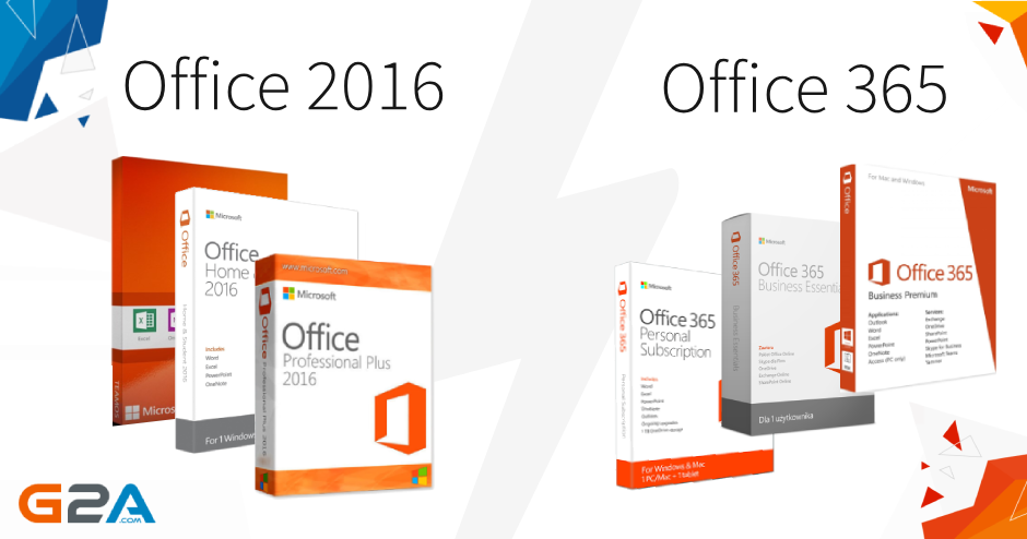 Office 2016 vs Office 365 Comparison - G2A News