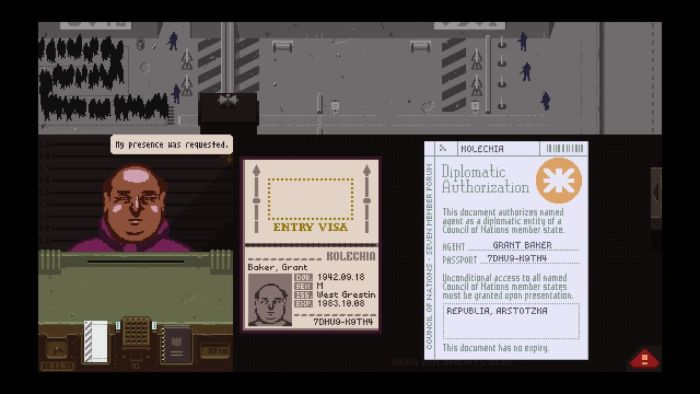 Papers, Please - request