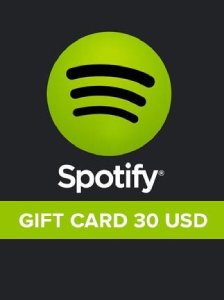 Spotify Gift Card 30 USD UNITED STATES