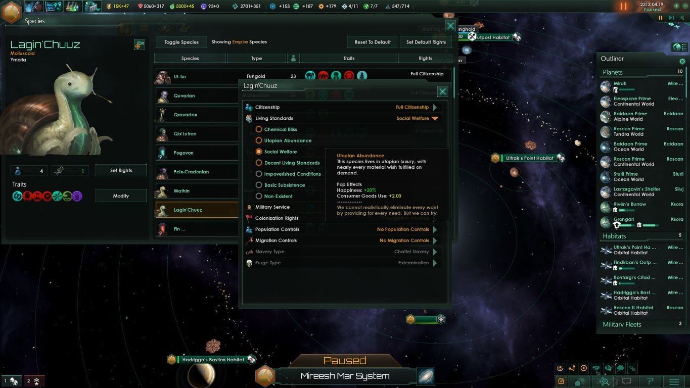 Top Five Stellaris Amenities Bonus - Circus