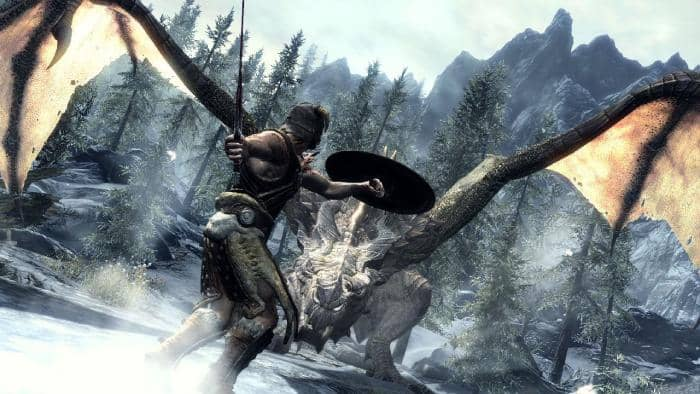The Elder Scrolls V: Skyrim - fight