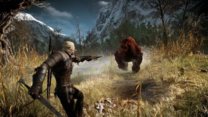 The Witcher 3: Wild Hunt - fighting