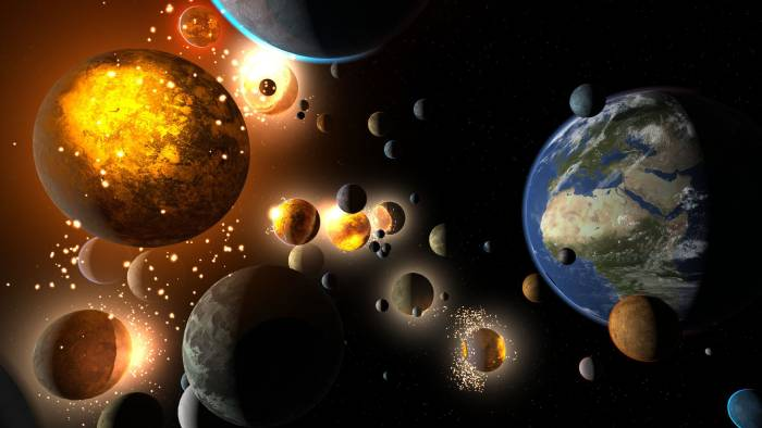 Planets and Asteroids in Universe Sandbox