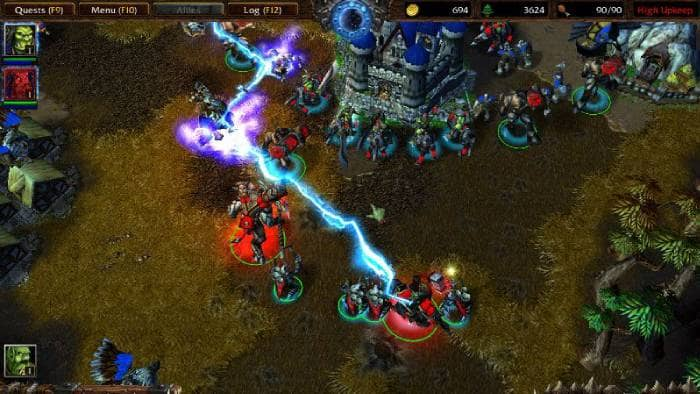 Warcraft 3 Reign of Chaos - fighting game screen
