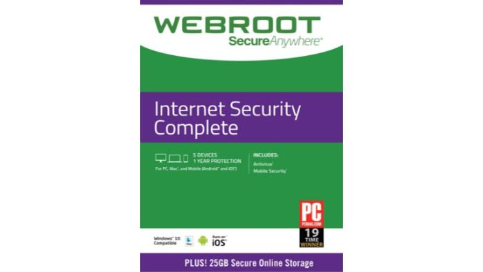 Webroot Internet Security Complete 5 Devices 1 Year